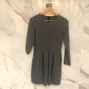 Aritzia Talula elegant grey dress.